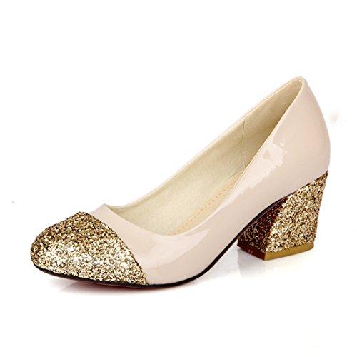 Europeo Zapatos apricot en Zapatos Estilo Señora Bruto y Retro Alto de DEDE Calzado Tacon Tacones Sandalette Zapatos Pq181g