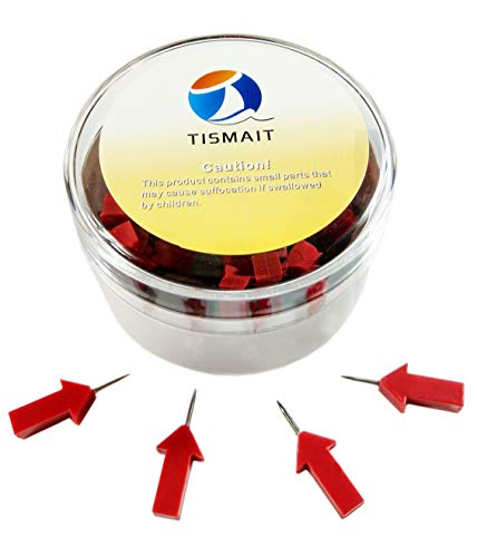 Tismait Creative Map Push Pins Photos Decorative Thumbtacks for Home School Office Corkboard Bulletin Board (Red Arrow) by TISMAIT