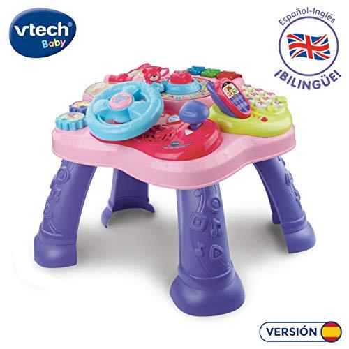 Vtech- Mesita Infantil Estrella Bilingue, Color rosa (3480-181557) , color/modelo surtido