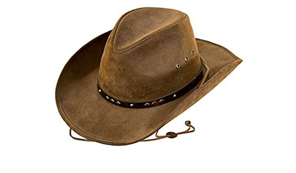 Outback Trading Western Hat Adult Cowboy Suntroy Leather Cognac 1375
