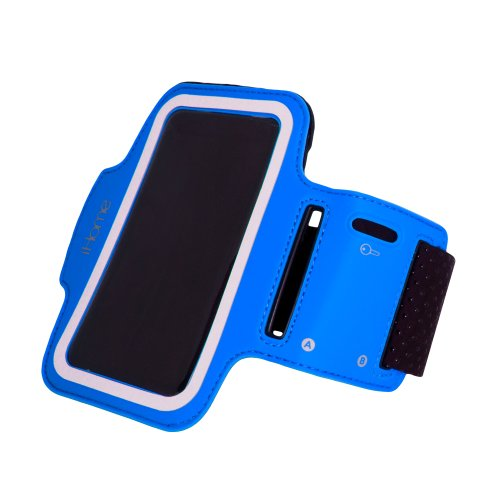 iHome IH-5P141N Sport Armband for iPhone 4/4S/5 and iPod touch 4G/5G, Blue