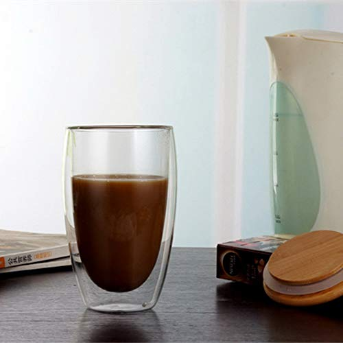 21 Sen-Sen Transparente Glaskaffeetasse Isolierte Milchbecher Glastasse Bambusdeckel transparent 83