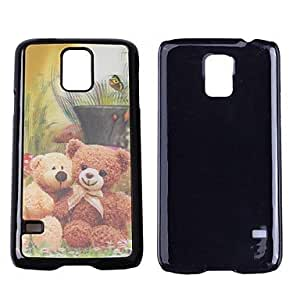 JAJAY- 3D Effect Lovely Bear Pattern Plastic Hard Protective Back Cover Case For Samsung Galaxy S5/I9600
