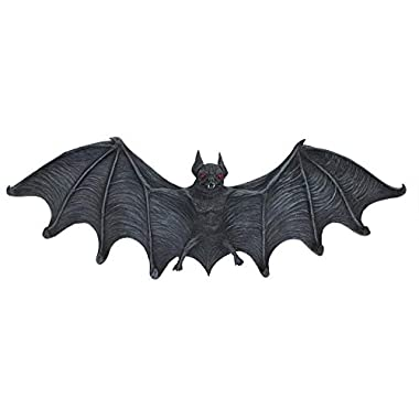 Design Toscano Key Hook Rack - Vampire Bat Key Holder Wall Sculpture: Large - Bat Figure - Halloween Bats
