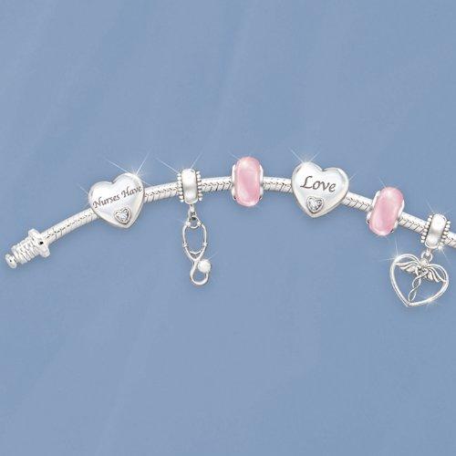 A Nurse's Heart Charm Bracelet by The Bradford Exchange by Bradford Exchange (Image #2)