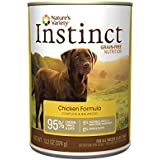 Nature's Variety Instinct Grain-Free Chicken Formula Canned Dog Food, 13.2 oz. Cans (Case of 12)