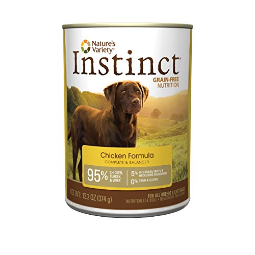 Nature's Variety Instinct Grain Free Chicken Formula Natural Wet Canned Dog Food by, 13.2 oz. Cans (Case of 12)