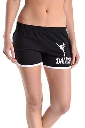 Beachcoco Dance Printed Active Shorts (S, Black)