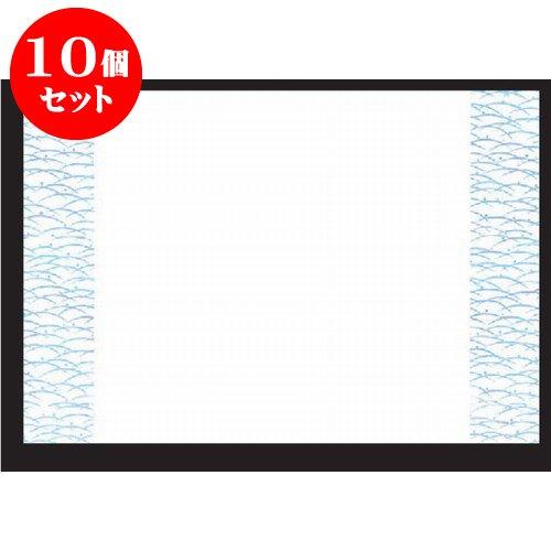 10個セット 和紙マット 尺3寸長手和紙敷(100枚単位)露芝紋 [38 x 26cm] 上質紙 (7-150-7) 料亭 旅館 和食器 飲食店 業務用   B01M0RRRB8