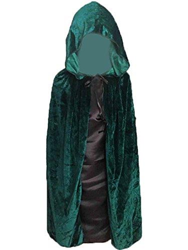 Unisex Kids Velvet Vampire Hooded Cloak Cosplay Dress Cape for Halloween Decoration Role Costume Cosplay 100CM