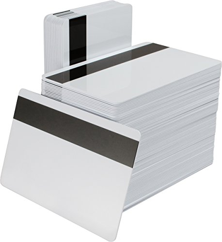 Datacard Blank White Composite Cards with HiCo Magnetic Stripe - CR80 30 Mil - 500 Count by Datacard