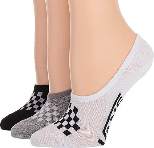 Vans Girls' No Show Canoodle Socks - 3 Pack - Girls Shoe Size 1-6