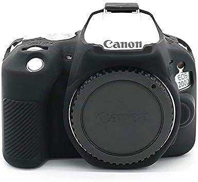 Protective Silicone Gel Rubber Camera Case Cover Bag for Canon EOS 200D
