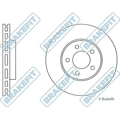DK6039 Apec Brake Disc Pair