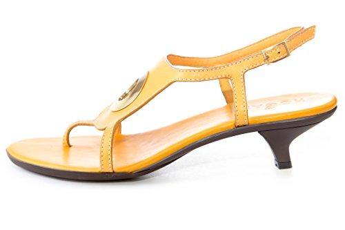 Hogan Par Tods Womens Élégant Cheville Cravate Talon Chaussures Tournesol