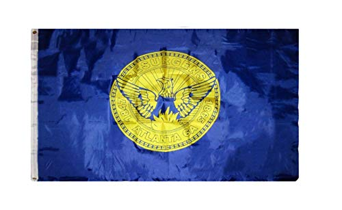 ALBATROS 3 ft x 5 ft City of Atlanta Georgia Flag Banner Grommets for Home and Parades, Official Party, All Weather Indoors Outdoors