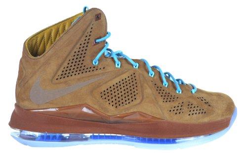 """Nike Lebron X EXT QS """"Hazlenut"""" Men's Shoes Hazlenut Brown/Blue 607078-200-10.5"""