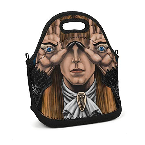 ArNSports Pan's-Labyrinth-Starring-David-Bowie- Lunch Box Novelty School Tote Bag Lunch Box