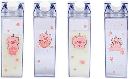 MB-LANHUA Babyflasche Tragbare Wasserflasche Milchlagerung Sakura-Print Erdbeer-Print Sport Trink Clear Cup Für Home School Office