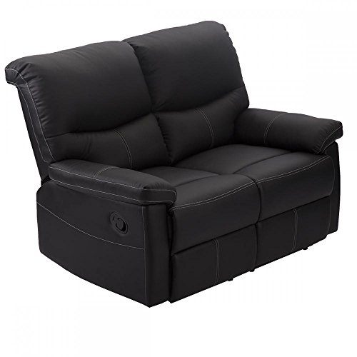 2 Set Sofa Loveseat Chaise Couch Recliner 2 Leather Living Room Furniture (2 Seat Leather Sofa)