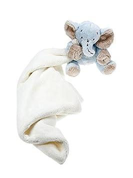 Doudou grande en juguetes blandos peluche color azul con elefante de peluche para bebés