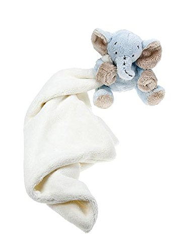 Blue Stuffed Animal Elephant Comfort Blanket for Newborn Baby Boy Mousehouse Gifts MH-100416
