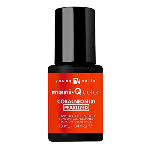 Young Nails MQ Color, Coral Neon 10, 0.33 Ounce