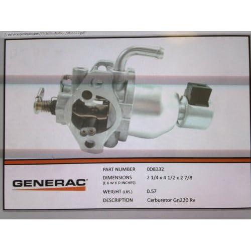 Cheap 0D8332 - Generac Guardian GN220 RV carburetor (Discontinued by Manufacturer)