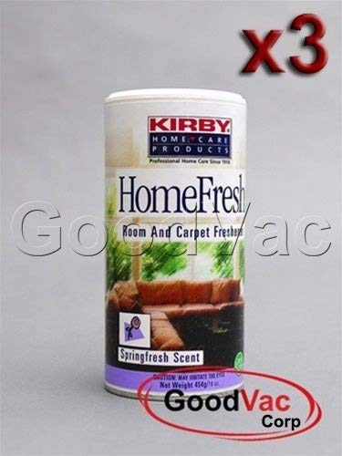Kirby (PACK OF 3) Homefresh Carpet Powder Freshener/Room Deodorizer/Odour Remover. Scent - SpringFresh B00ITWUL1Y