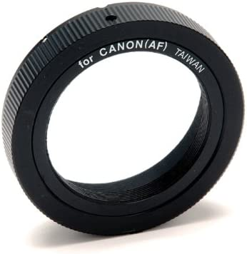 Celestron T-Adapter with SCT 5, 6, 8 with 9.25, 11, 14, Black (93633-A) & 93419 T-Ring for 35 mm Canon EOS Camera (Black)