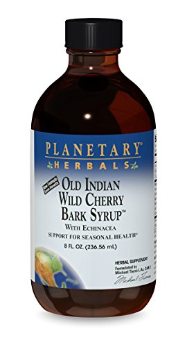 Wild Cherry Syrup - Planetary Herbals  Old Indian Wild Cherry Bark Syrup, with Echinacea , 8-Ounce (Pack of 2)