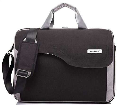 [Kenox 15.6 Inch Nylon Laptop Briefcase With Strap Multicompartment Messenger Hand Bag Tablet Case Bag] (Leather Nylon Briefcase)