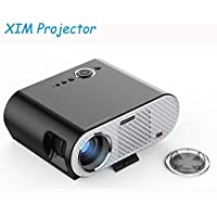 GP90 Video Mini Projector 3200 Lumens LED Portable Home Theater Support 1080P HD HDMI USD SD Card VGA AV for Outdoor Indoor PC/Laptop/DVD/TV /Video/Photo/Game/Movie