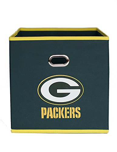 NFL Green Bay Packers Fabric Storage Bin, 11 x 11-inches, Hunter Green ()