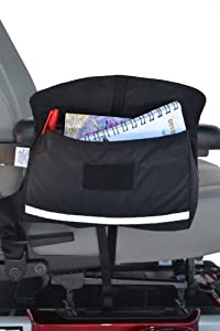 """Mobility Saddlebag for Wheelchairs, Power Chairs & Scooters 10"""" x 8"""" x 2"""" from Diestco"""