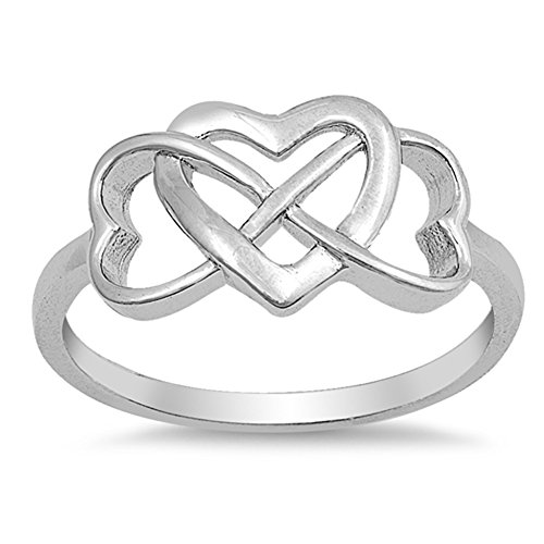 Heart Promise Ring New .925 Sterling Silver Band Size 5 ()