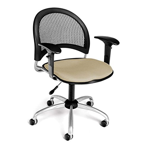 (OFM 336-AA3-2209 Moon Swivel Chair with Arms, Khaki)