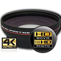 HD3 PLUS, 4K High-Definition Wide Angle Converter Lens with Macro Extender