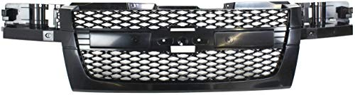 Grille Assembly Compatible with 2004-2012 Chevrolet Colorado Mesh Insert Textured Dark Gray Shell and Insert 2-Piece Design