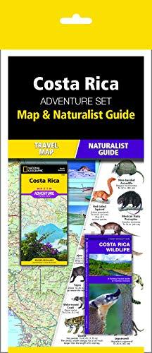 Costa Rica Adventure Set: Travel Map & Wildlife Guide