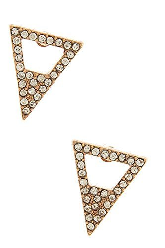 KARMAS CANVAS CRYSTAL TRIANGLE EARRINGS (Copper) (Coyote Copper Earrings)