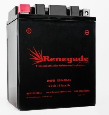 (Utility Vehicle Battery; RG14AH-BS; Polaris 2012, 2013. 2014, 2015, 2016, 2017, 2018 Ranger 570/570 Crew / 570 EPS / 570 EFI; Part# BTX14AH-BS, YTX14AH-BS, UB14-A2, YB14-B2)