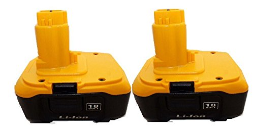 2 pcs 4A Lithium Battery DC9180 4a 4.0 a 4amp Replace for Dewalt Dc9180 18v 4a High Capacity Also Can Replace for Dc9096 Using Charger Dc9310 Cordless Tools Drills Battery Batteria Compatible