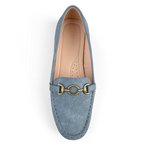 Blue Chain Square Journee Toe Driving Sole Womens Loafers Comfort Collection qUAYzpU