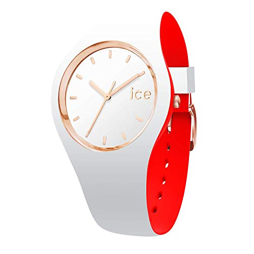 Ice-Watch - ICE Loulou White Rose-Gold - Women's Wristwatch with Silicon Strap - 007240 (Medium)