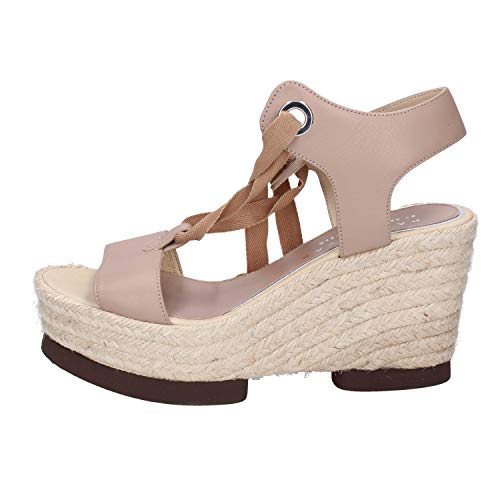 By Femme Barcelo Palomitas Cuir Sandales Beige Paloma TzP8Wx8nd