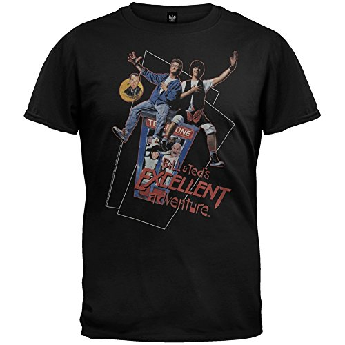 Old Glory Bill & Teds Excellent Adventure - Flying Soft T-Shirt Medium Black
