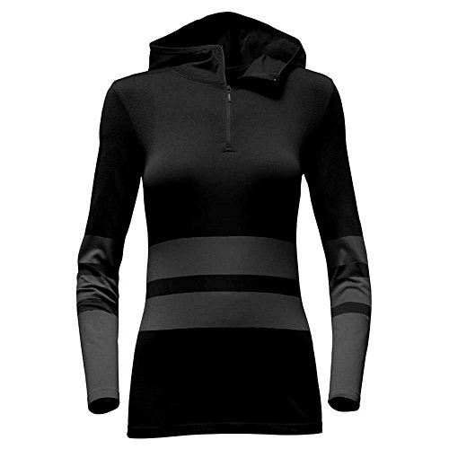 The North Face Women's LS Secondskin Hooded Top TNF Black/Graphtgr (LARGE) by The North Face (Image #1)