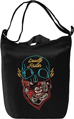 Deadly rider Borsa Giornaliera Canvas Canvas Day Bag| 100% Premium Cotton Canvas| DTG Printing|