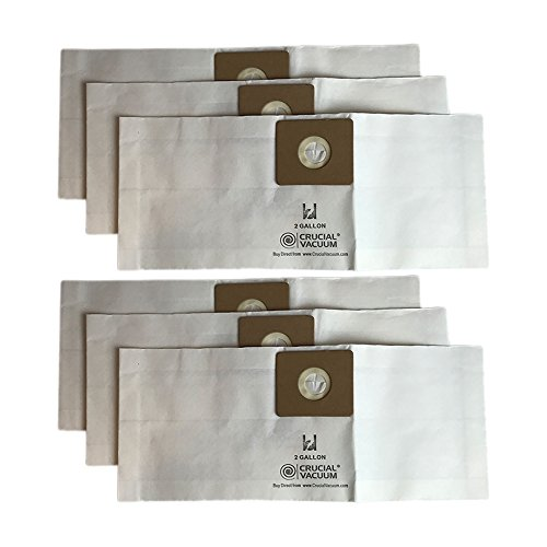 Think Crucial 6 Replacements for Shop-Vac Type B Bags Fit 2